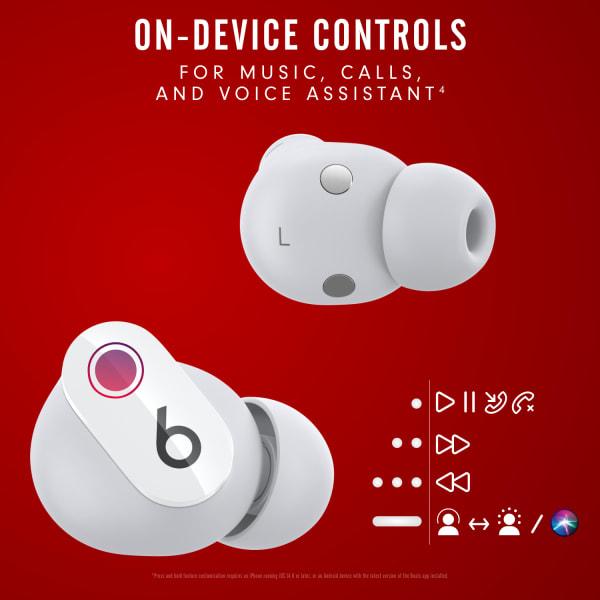 Beats Studio Buds True Wireless Noise Cancelling Earphones White  3