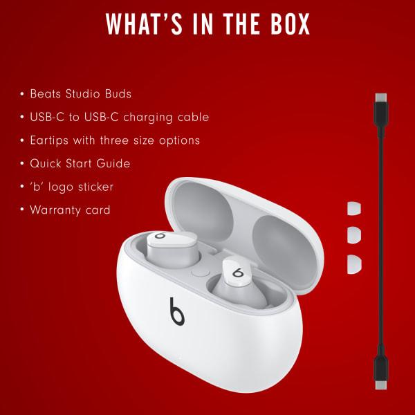 Beats Studio Buds True Wireless Noise Cancelling Earphones White  6