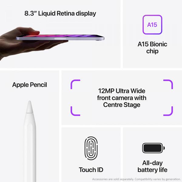 Apple iPad mini (6th Gen) Wi-Fi 64GB Purple  2