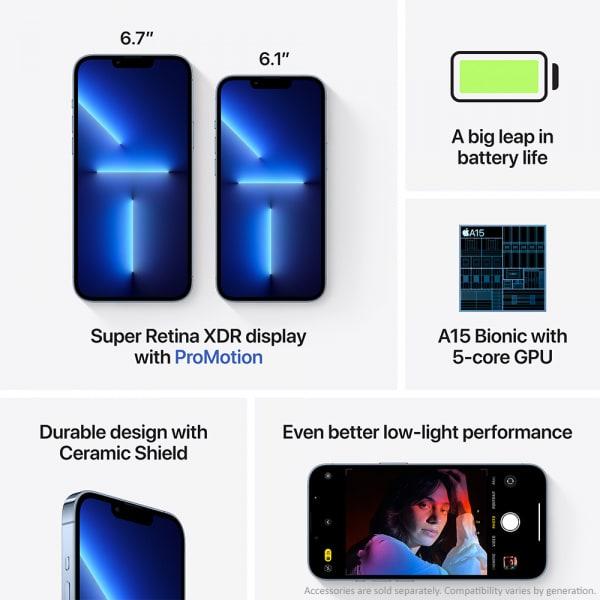 Apple iPhone 13 Pro 128GB Sierra Blue  4