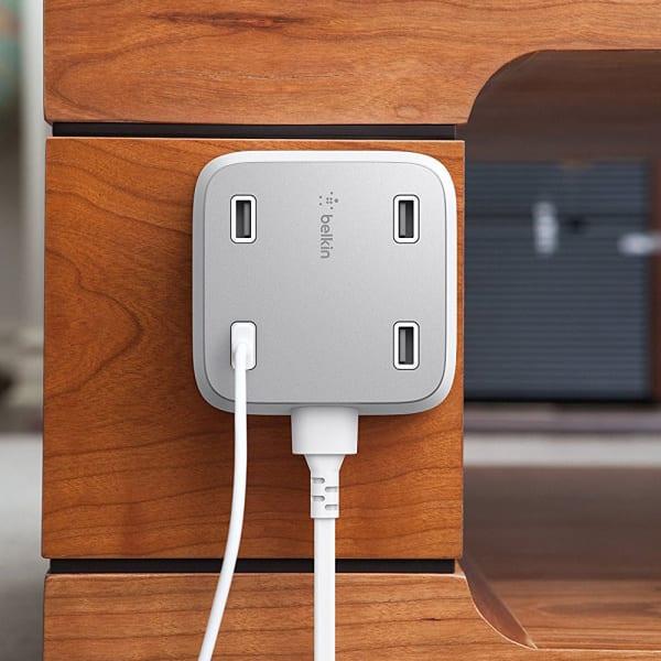 BELKIN Family Rockstar 4 Port USB Charger - White 3