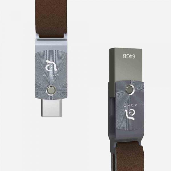 ADAM ELEMENTS Roma USB C to USB 3.0 OTG 64GB Flash Drive - Grey 1