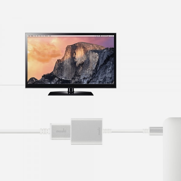 MOSHI USB - C to HDMI Adapter - Silver 4