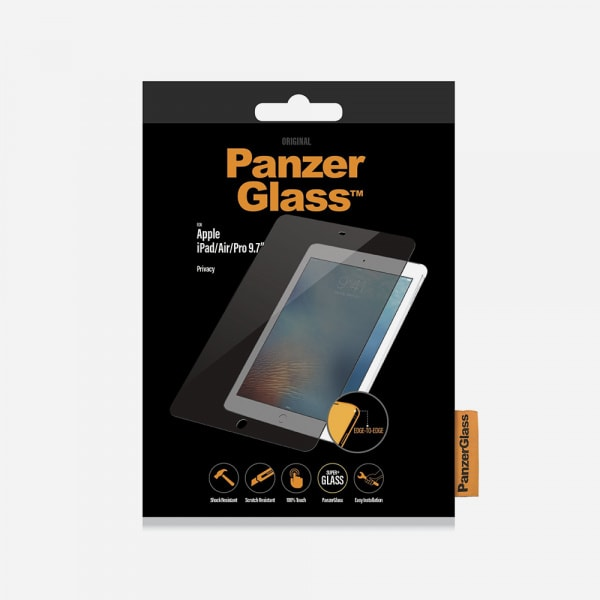 PANZERGLASS Privacy for iPad 5th/6th Gen (2017-2018) / iPad Pro 9.7 (2016) - Clear 0