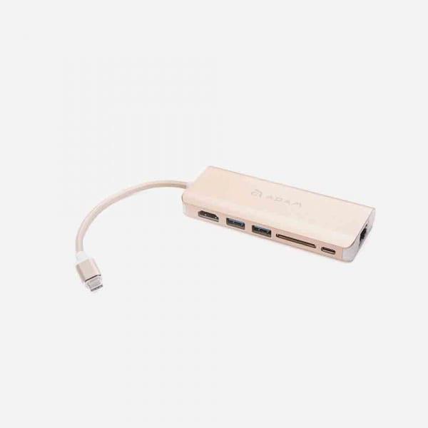 ADAM ELEMENTS Casa A01 USB C 6-in-1 Hub - Gold 0