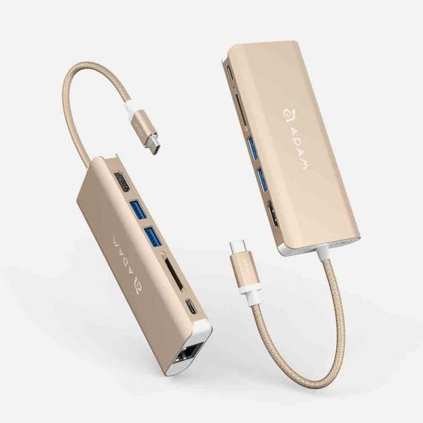ADAM ELEMENTS Casa A01 USB C 6-in-1 Hub - Gold 1