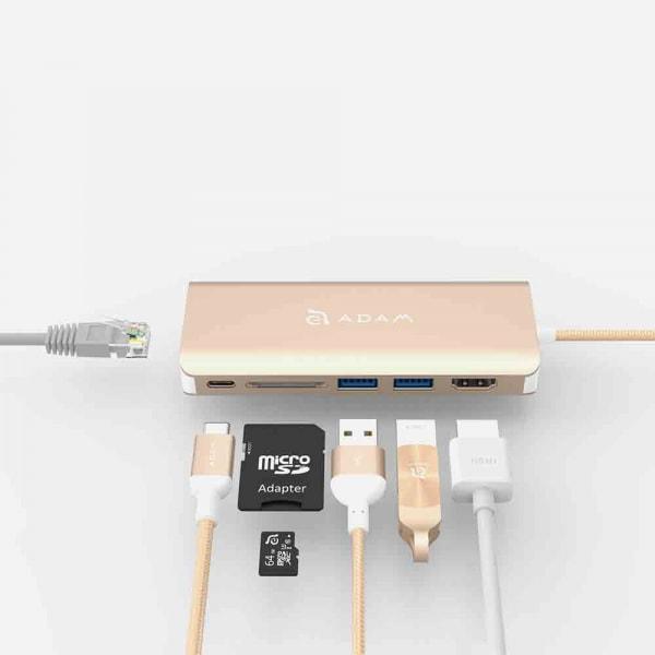 ADAM ELEMENTS Casa A01 USB C 6-in-1 Hub - Gold 2