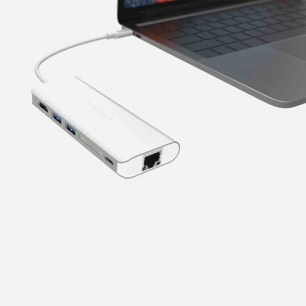ADAM ELEMENTS Casa A01 USB C 6-in-1 Hub - Silver 1