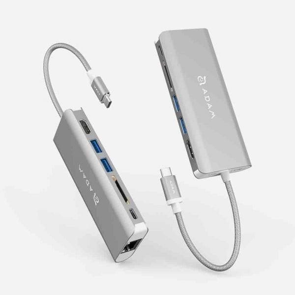 ADAM ELEMENTS Casa A01 USB C 6-in-1 Hub - Silver 3