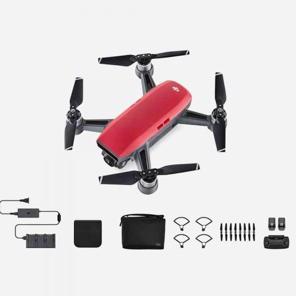 DJI Spark Fly More Combo - Lava Red 2