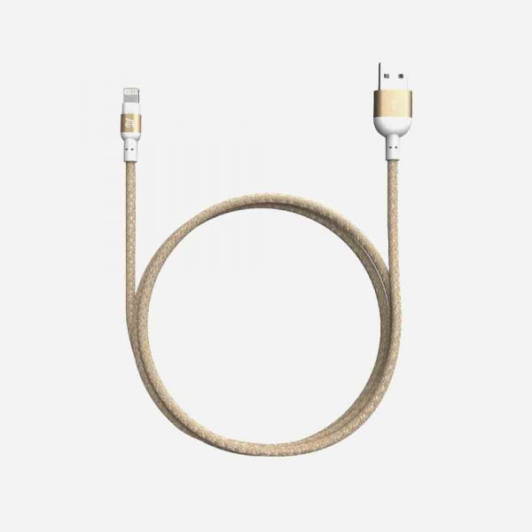 ADAM ELEMENTS Peak II Braided Lightning Cable 1.2m - Gold 0