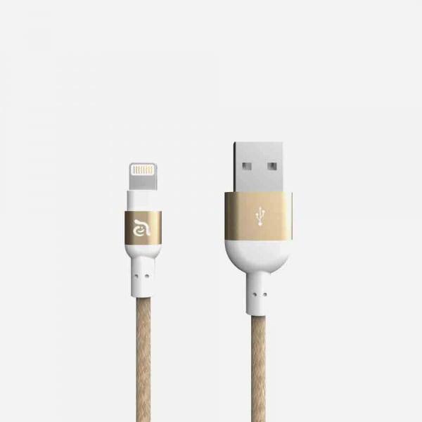 ADAM ELEMENTS Peak II Braided Lightning Cable 1.2m - Gold 1