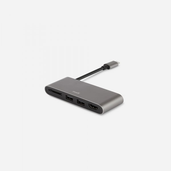 MOSHI USB C Multimedia Adapter - Titanium Gray 0