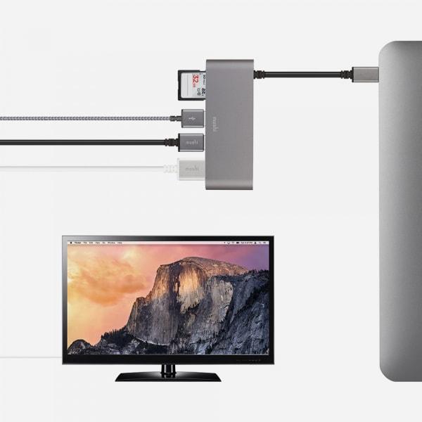 MOSHI USB C Multimedia Adapter - Titanium Gray 2