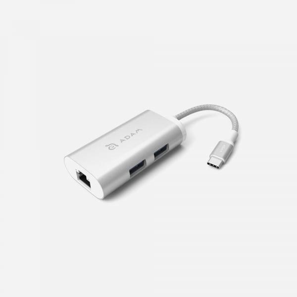 ADAM ELEMENTS Casa eC301 USB C 3-in-1 Hub - Silver 1