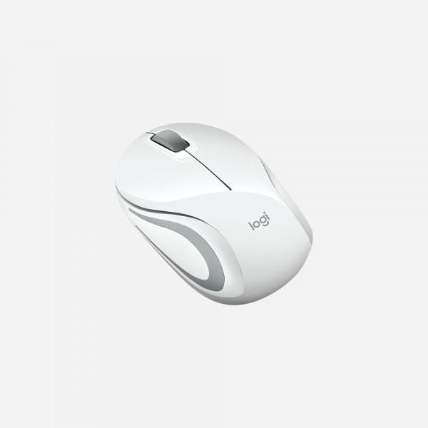 LOGITECH M187 Wireless Mini Mouse - White 2