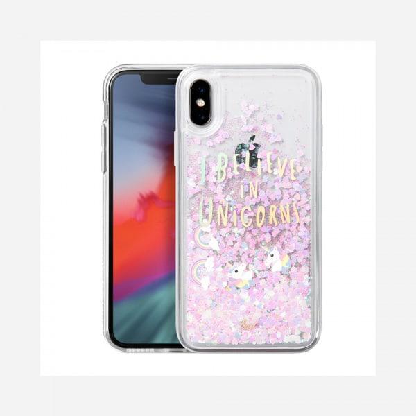 LAUT Liquid Glitter Case for iPhone XS Max - Unicorn 0