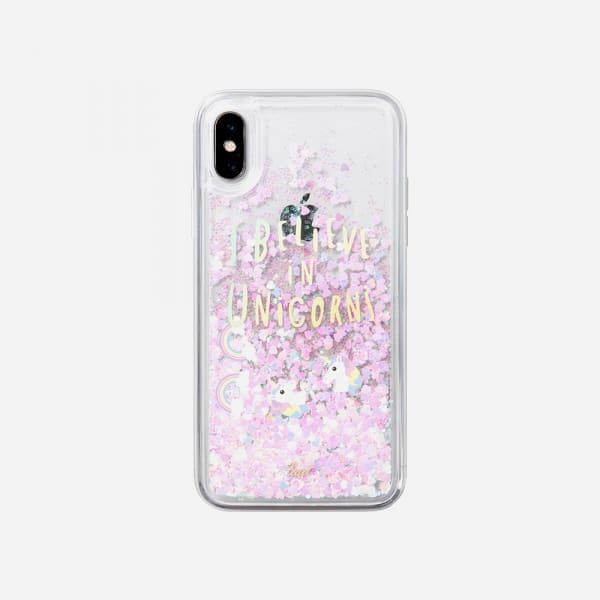 LAUT Liquid Glitter Case for iPhone XS Max - Unicorn 1