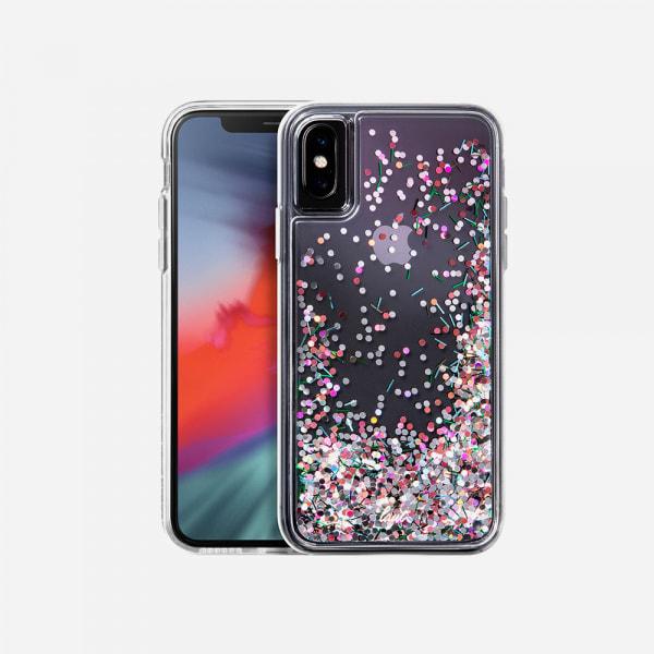 LAUT Liquid Glitter Case for iPhone XS Max - Confetti Pastel 0