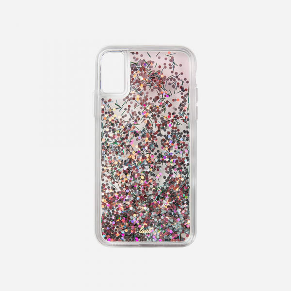 LAUT Liquid Glitter Case for iPhone XS Max - Confetti Pastel 3