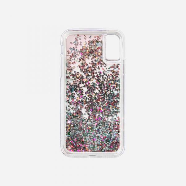 LAUT Liquid Glitter Case for iPhone XS Max - Confetti Pastel 4