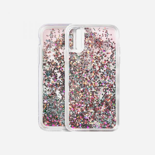 LAUT Liquid Glitter Case for iPhone XS Max - Confetti Pastel 5