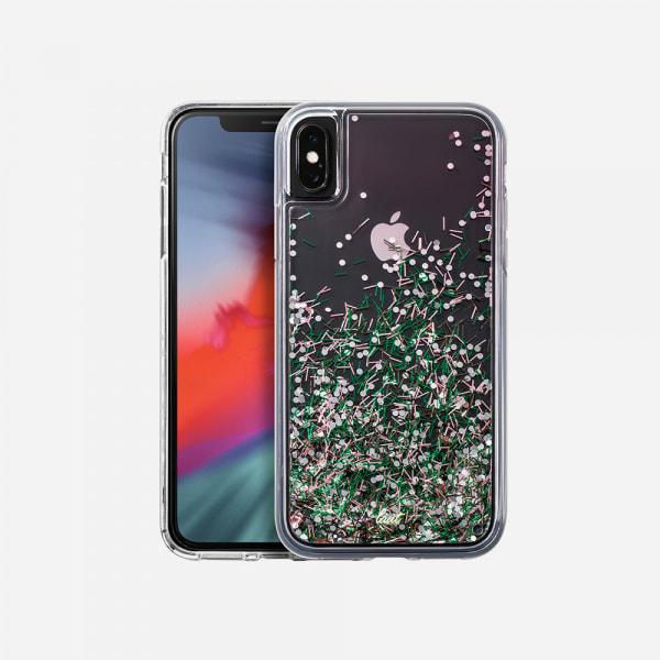 LAUT Liquid Glitter Case for iPhone XS/X - Confetti Pastel 0