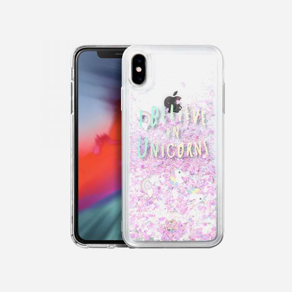 LAUT Liquid Glitter Case for iPhone XS/X - Unicorn 0