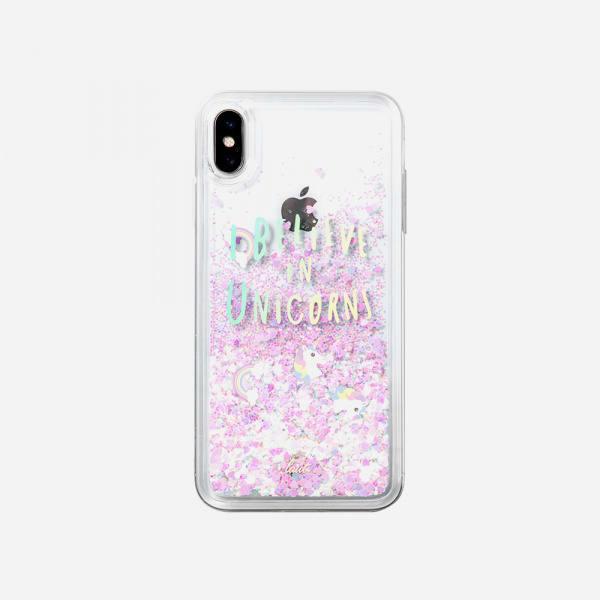 LAUT Liquid Glitter Case for iPhone XS/X - Unicorn 1