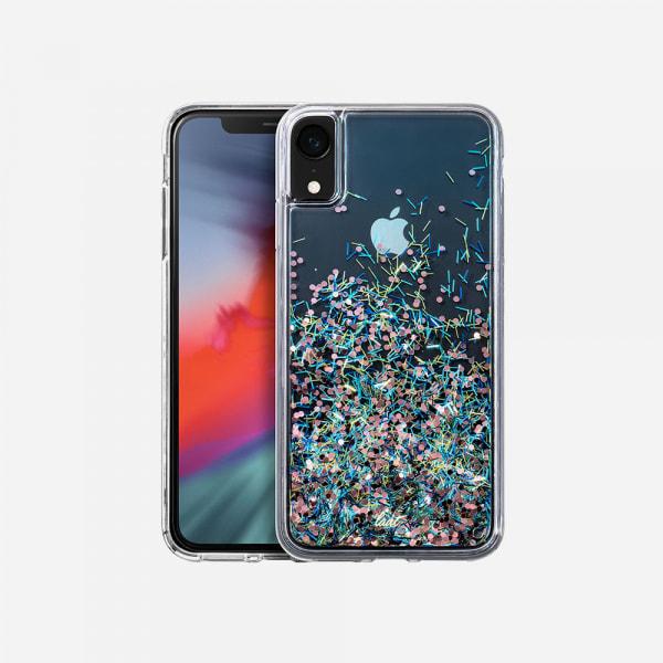 LAUT Liquid Glitter Case for iPhone XR - Confetti Party 0