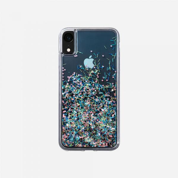 LAUT Liquid Glitter Case for iPhone XR - Confetti Party 1