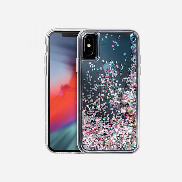 LAUT Liquid Glitter Case for iPhone XS Max - Confetti Party 0