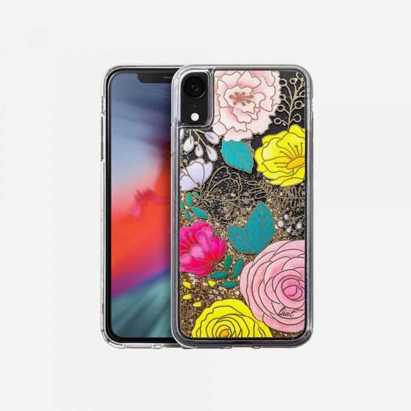 LAUT Liquid Glitter Case for iPhone XR - Glitter Floral 0