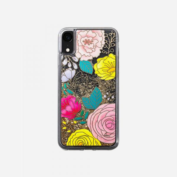 LAUT Liquid Glitter Case for iPhone XR - Glitter Floral 1