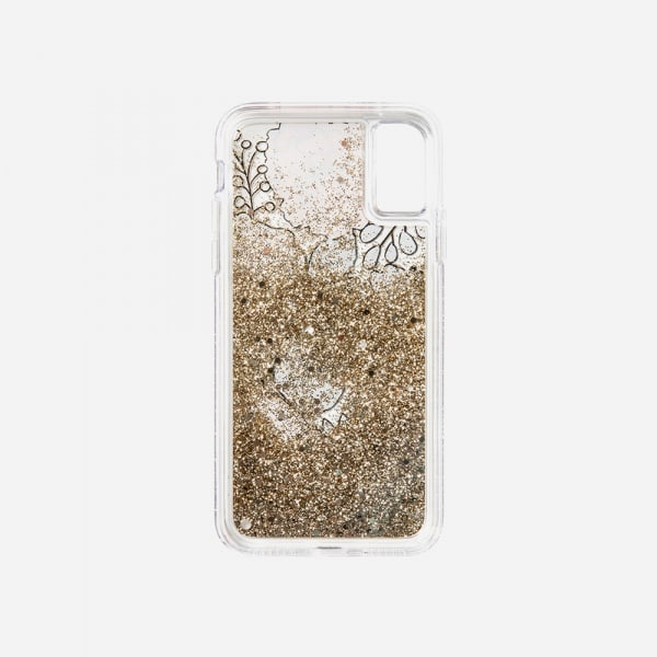 LAUT Liquid Glitter Case for iPhone XS Max - Glitter Floral 4