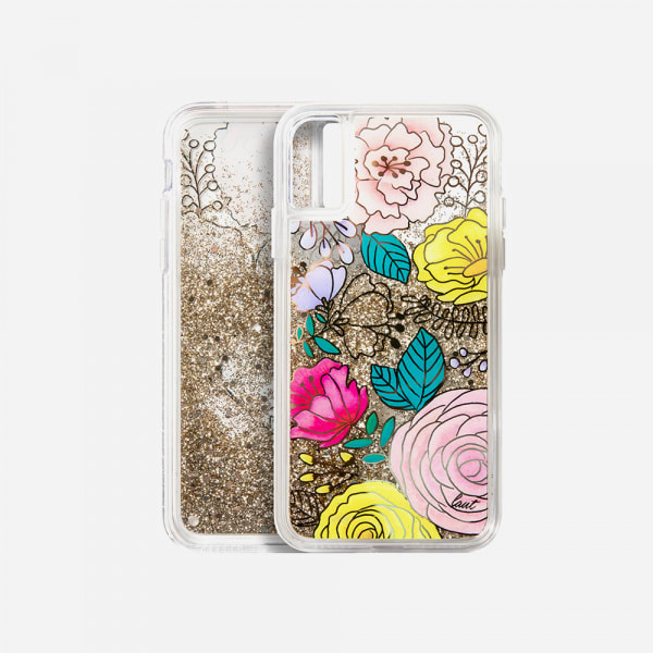LAUT Liquid Glitter Case for iPhone XS Max - Glitter Floral 5