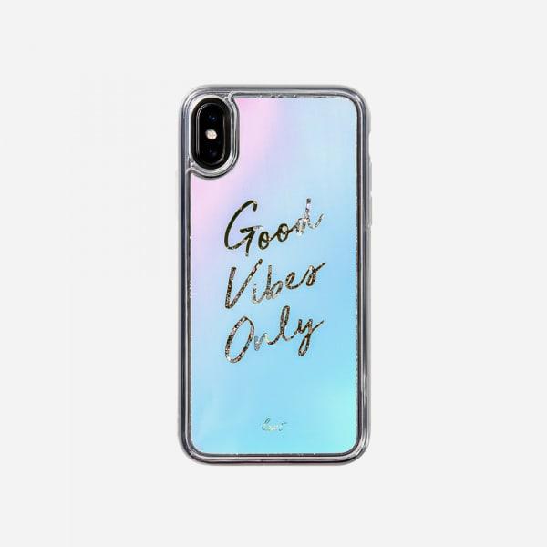 LAUT Liquid Glitter Case for iPhone XS Max - Good Vibes 1