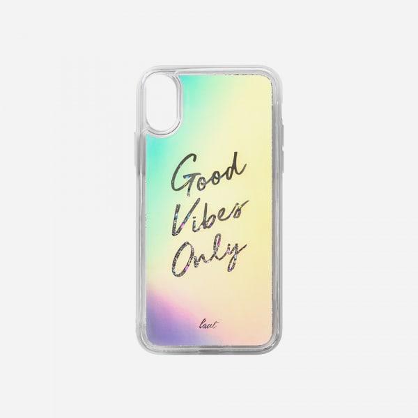 LAUT Liquid Glitter Case for iPhone XS Max - Good Vibes 3