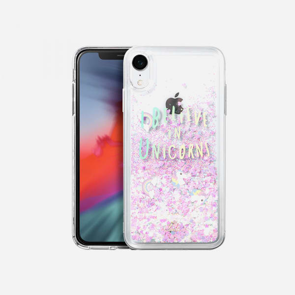 LAUT Liquid Glitter Case for iPhone XR - Unicorn 0