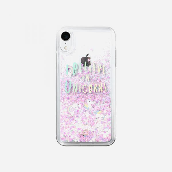 LAUT Liquid Glitter Case for iPhone XR - Unicorn 1