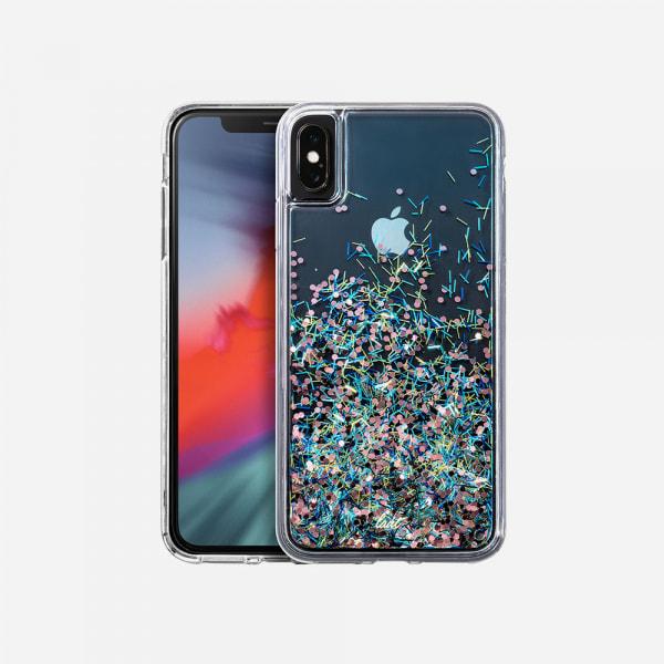 LAUT Liquid Glitter Case for iPhone XS/X - Confetti Party 0