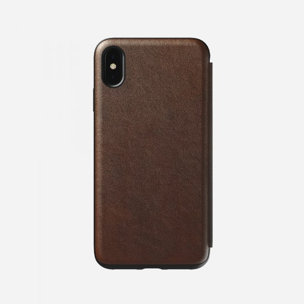 NOMAD Rugged Folio for iPhone XS Max - Rustic Brown 0