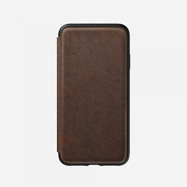 NOMAD Rugged Folio for iPhone XS Max - Rustic Brown 1