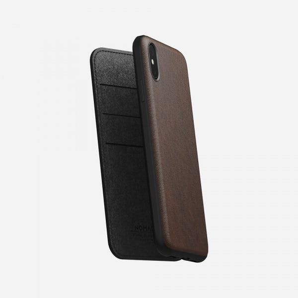 NOMAD Rugged Folio for iPhone XS Max - Rustic Brown 4