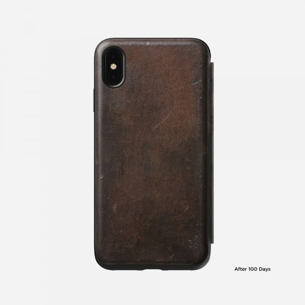 NOMAD Rugged Folio for iPhone XS Max - Rustic Brown 5