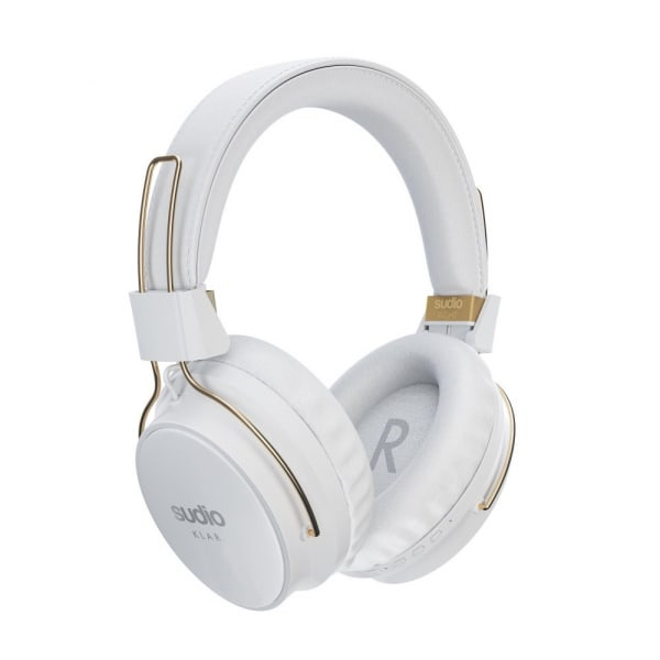 SUDIO Klar Wireless Noise Cancelling Around-Ear Headphones - White 1
