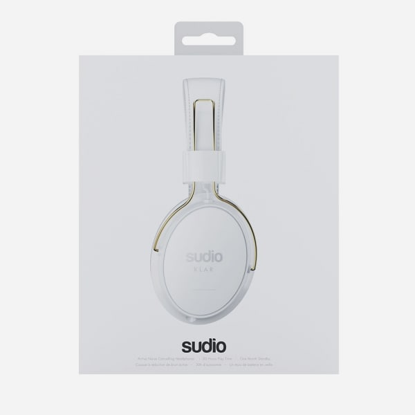 SUDIO Klar Wireless Noise Cancelling Around-Ear Headphones - White 2