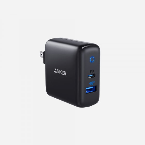ANKER PowerPort PD+2 USB C and A Wall Charger - Black 0