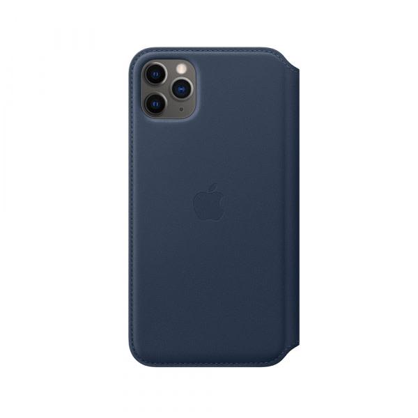 iPhone 11 Pro Max Leather Folio - Deep Sea Blue 0