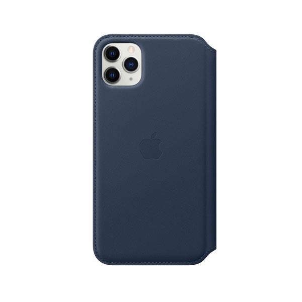 iPhone 11 Pro Max Leather Folio - Deep Sea Blue 1